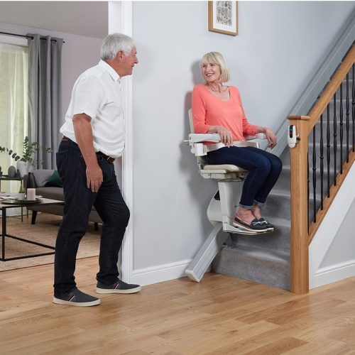 Handicare 1100: the slimmest straight stairlift