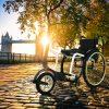 Promenade near Tower Bridge at sunrise in autumn